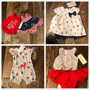 Carters and Cat & Jack baby Girl Outfits